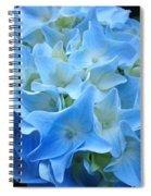 Blue Hydrangea Floral Flowers Art Prints Baslee Troutman Spiral Notebook