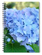 Blue Hydrangea Flowers Art Botanical Nature Garden Prints Spiral Notebook