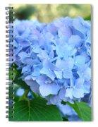 Blue Hydrangea Flowers Art Botanical Nature Garden Prints Spiral Notebook