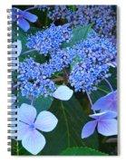 Blue Hydrangea Flowers Floral Art Baslee Troutman Spiral Notebook