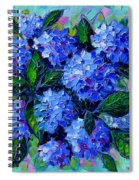 Blue Hydrangeas - Abstract Floral Composition Spiral Notebook