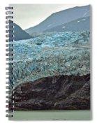 Blue Ice In Fog Spiral Notebook