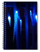 Blue Icicles Spiral Notebook