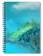 Blue Impressions Spiral Notebook