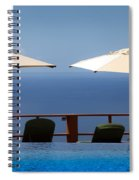 Blue Infinity Spiral Notebook