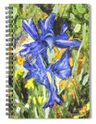Blue Iris Painting Spiral Notebook
