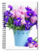 Blue And Pink Spiral Notebook