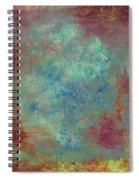 Blue Iron Texture Painting Spiral Notebook