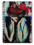 Blue Lady Spiral Notebook