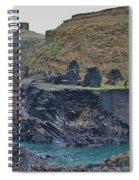 Blue Lagoon 2 Abereiddy Wales Spiral Notebook