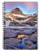 Blue Lake Sunrise Spiral Notebook
