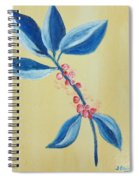Blue Leaves And Berries Spiral Notebook