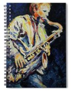 Blue Les Spiral Notebook