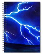 Blue Lightning Above The Ocean Spiral Notebook