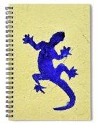 Blue Lizard Spiral Notebook