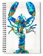 Blue Lobster Art By Sharon Cummings Spiral Notebook