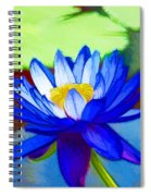 Blue Lotus Flower Spiral Notebook