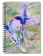 Blue Magpies Spiral Notebook