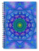 Blue Mandala For Heart Chakra Spiral Notebook