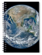 Blue Marble 2012 Planet Earth Spiral Notebook