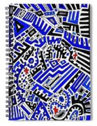 Blue Maze Spiral Notebook