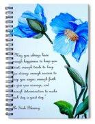 Blue Meconopsis Poppy Spiral Notebook