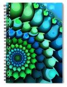 Blue Meets Green Spiral Notebook