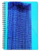 Blue Metal Mesh Spiral Notebook