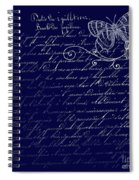 Blue Midnight Butterfly Spiral Notebook