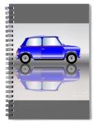 Blue Mini Car Spiral Notebook