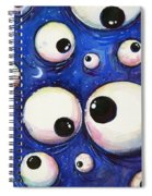 Blue Monster Eyes Spiral Notebook