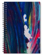 Blue Mood Abstract Spiral Notebook