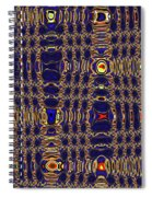 Blue Moon Abstract Spiral Notebook
