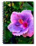 Blue Moon Hibiscus Spiral Notebook