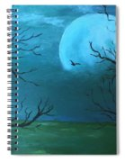 Blue Moon Spiral Notebook
