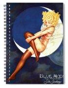 Blue Moon Silk Stockings Spiral Notebook