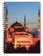 Blue Mosque At Dusk Spiral Notebook