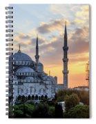 Blue Mosque At Sunset Spiral Notebook