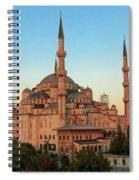 Blue Mosque Blue Hour Spiral Notebook