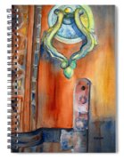 Blue Mosque Door Spiral Notebook
