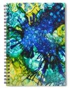 Blue Moth Spiral Notebook