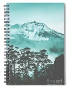 Blue Mountain Winter Landscape Spiral Notebook