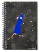 Blue Mouse Spiral Notebook