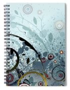 Blue Mystery Forest Of Flowers And Tendrils Spiral Notebook