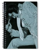 Blue Nail Suit Spiral Notebook