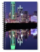 Blue Night And Reflections In Dallas Spiral Notebook