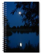 Blue Night Moon And Reflection Spiral Notebook