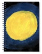 Blue Night Sun Spiral Notebook