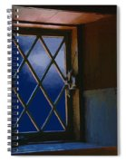 Blue Night Through Casement Spiral Notebook