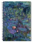 Blue Nympheas Spiral Notebook